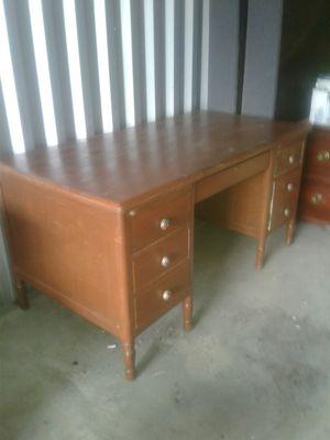 6 drawer solid wood desk for Sale in South Jordan, UT