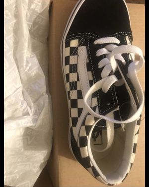 Old Skool (Primary Checker) Blk/White Vans for Sale in Compton, CA
