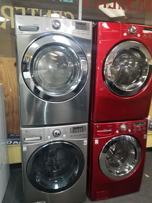LG new open box front load washer and gas dryer used like new for Sale in Baltimore, MD