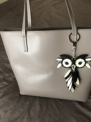 Kate Spade Grey Tote with Owl Charm for Sale in Highland Beach, MD