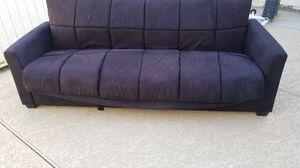 Black suede futon for Sale in Mesa, AZ