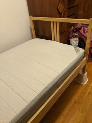 Ikea twin bed, slats, and mattress for Sale in Chicago, IL