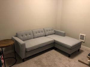Modern 2 piece sectional sofa w/ chase for Sale in Kirkland, WA