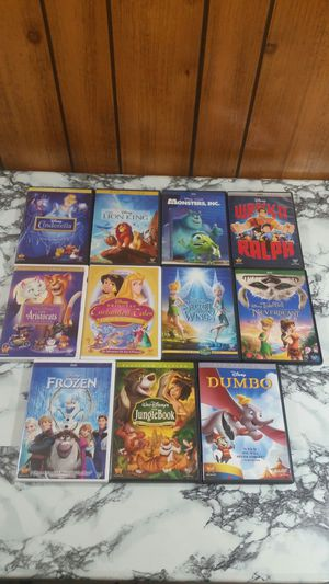 (11) Disney Cinderella lion King monsters Inc dumbo frozen and more Movie DVD Lot for Sale in Seffner, FL