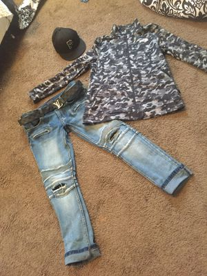 north face louis vuitton and edison biker jeans for Sale in Columbus, OH