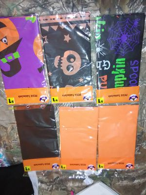 Halloween table clothes and creepy cloth decor for Sale in Owensville, MO