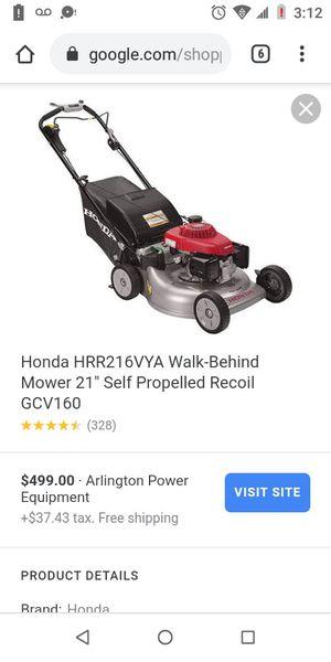 Honda lawn mower for Sale in Wichita, KS