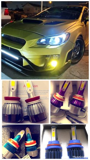 On sale bright LED headlights or fog lights for ANY car $25 for Sale in West Covina, CA