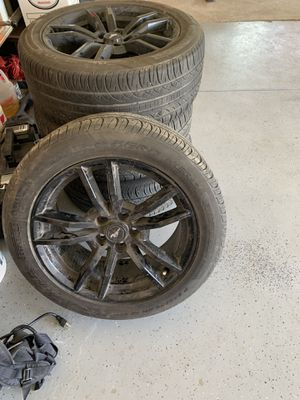 18-inch black Mustang rims for Sale in Fresno, CA