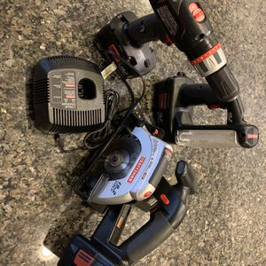 Craftsman 19.2V Tool Set With 3 Batteries And Charger for Sale in Sloan, NV