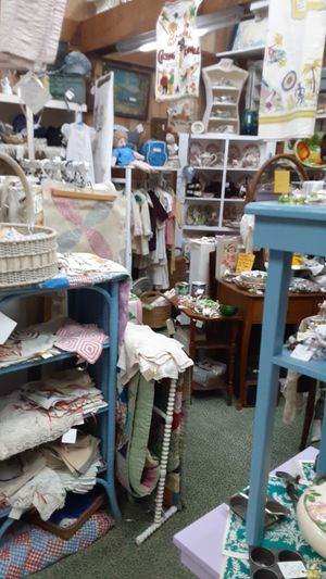 Small tables, old linens, old laces, buttons, Fenton glass, for Sale in N REDNGTN BCH, FL
