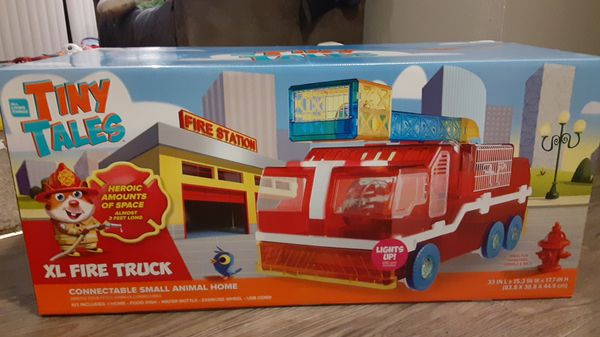 Brand new in box! Tiny Tales XL Firetruck Hamster Home
