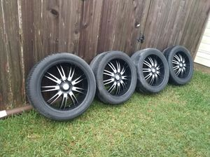 """22"""" inch wheels with tires for Sale in Tomball, TX"""
