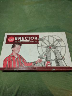 Erector 1/11 VINTAGE Gilbert Erector Set 1960 Ferris Wheel Set With instruction book for Sale in Payson, AZ