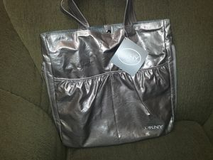 New DKNY Donna Karan Silver Tote Bag limited edition for Sale in Sacramento, CA
