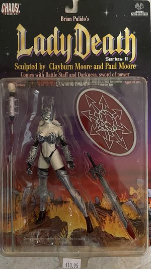 LADY DEATH Action Figure Series 2 1999 CHAOS Comics MOORE Collectibles NEW MOC for Sale in Santa Ana, CA