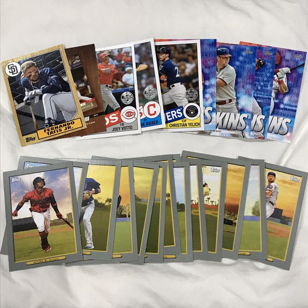 2020 Topps Baseball Series 1 Huge Lot of (200) Base Cards, Turkey Reds & Misc. Inserts