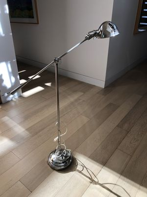 Silver floor desk lamp for Sale in West Hollywood, CA