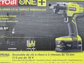 "Ryobi 3-Speed 1/2"" Impact Wrench Kit for Sale in North Las Vegas,  NV"