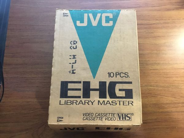 New JVC T-120 VHS Videotapes