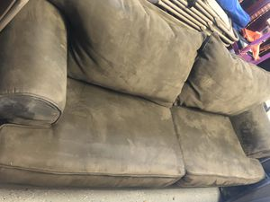 Green grayish suede couch for Sale in Pembroke Pines, FL