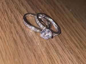 Sterling Silver Engagement Ring and Band for Sale in Normal, IL