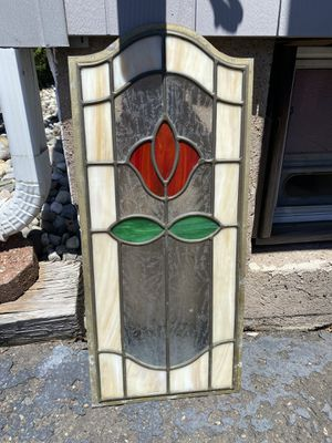 Antique rose stained glass decor for Sale in Saddle Brook, NJ