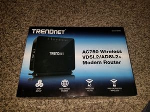 TRENDnet AC750 dsl modem for Sale in Vancouver, WA