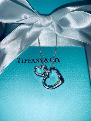 Tiffany and co. Open heart necklace ,Elsa Peretti designs for Sale in Santa Rosa, CA