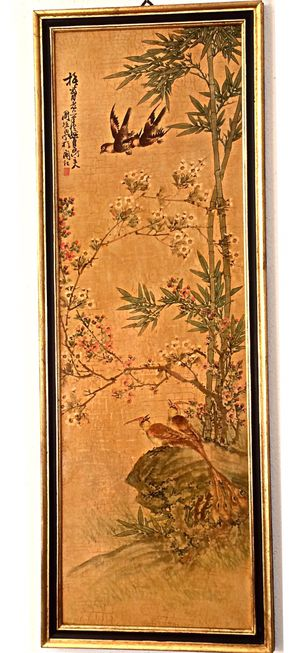 THREE large luxurious Asian paintings in Absolutely perfect condition. Retail price was $1,450.00 3 Stunningly beautiful large gold leaf paintings fo for Sale in Delray Beach, FL