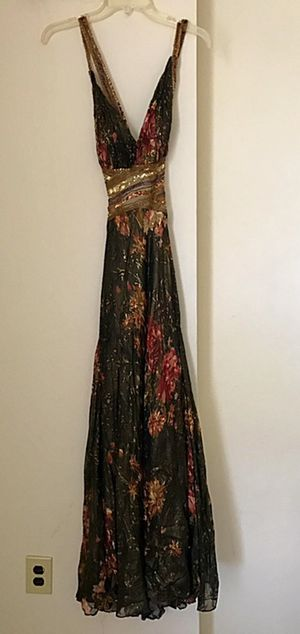 Gold Sequenced Prom Dress Size 8 for Sale in Philadelphia, PA
