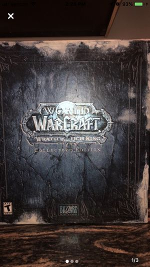 Collectors edition of World of Warcraft wrath of the Lich King in mint condition for Sale in Hampton, VA