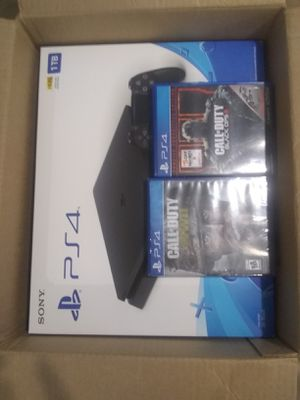 Brand new PS4 with 2 controllers and 2 games for Sale in Hayward, CA