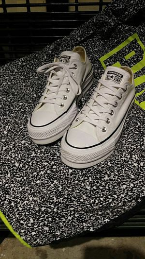 Brand New Womens sizes 8 & 9 White Platform Converse for Sale in Salt Lake City, UT