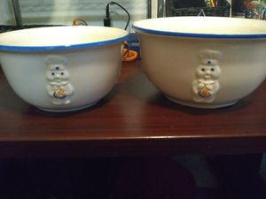 Pillsbury doughboy collector ceramic mixing bowls for Sale in Oklahoma City, OK
