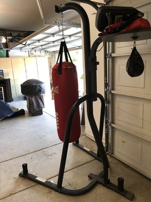 Everlast heavy bag and speed bag stand for Sale in Phoenix, AZ