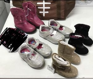 5 Brand new pairs of baby and toddler girls shoes, sneakers, and boots. for Sale in Plantation, FL
