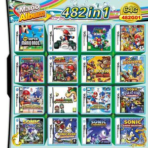 482 in 1 Video game reproduction cartridge for Nintendo DS, DS Lite, DSi, 2DS, 3DS, and XL for Sale in Tustin, CA