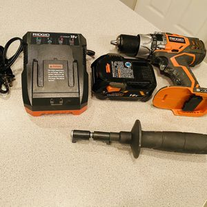 18v Ridgid Hammer Drill 1/2 Set for Sale in Lombard, IL