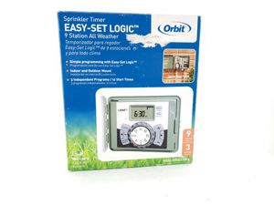 Orbit 57899 9-Station Outdoor Swing Panel Sprinkler System Timer for Sale in Citrus Springs, FL