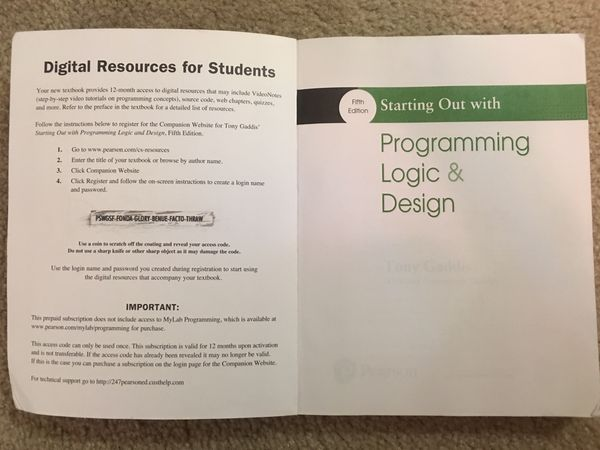 Fifth edition Programming Logic And Design by Tony Gaddis