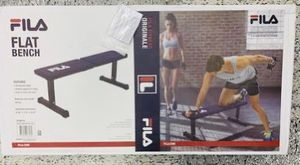 Fila- Flat Exercise Weight Bench Home Gym Fitness for Sale in San Ramon, CA