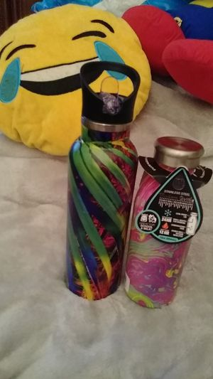 2. Stainless steel water bottles. 1. 12oz. And 1. 24oz. $5. New. for Sale in PA, US