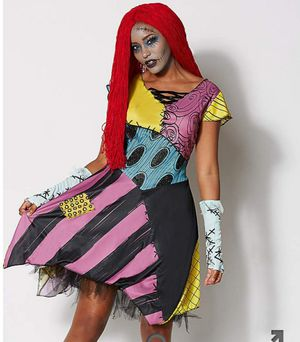 XL Sassy Sally Halloween costume nightmare before Christmas wig/ dress for Sale in Aurora, CO