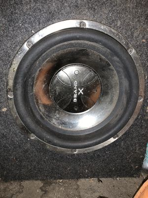 """Brand X 10"""" subwoofer for Sale in Huron Charter Township, MI"""