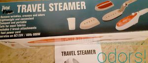 *TRAVEL STEAMER*. REMOVES WRINKLES, CREASES & ODORS! TWO BRUSH ATTACHMENTS. for Sale in Hagerstown, MD