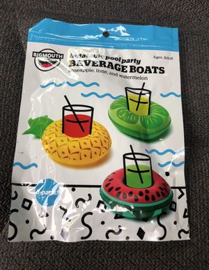 New bigmouth tropical fruits inflatables pool party beverage boats 3pk for Sale in Ocala, FL