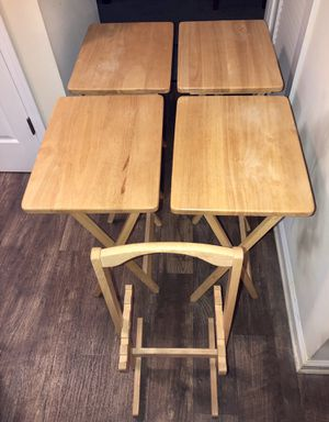 Four tables to serve as new food, excellent condition. $35 for everything for Sale in Stone Mountain, GA