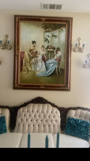 Antique oil painting high quality for Sale in Moreno Valley, CA