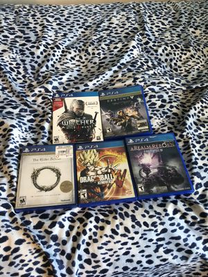 5 PS4 Games (Rarely used) for Sale in Bethesda, MD